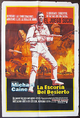 Play Dirty 1969 Michael Caine Original Argentinian Poster