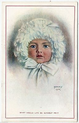 H HARVEY - What Would Life Be Without Me - H G Rowe #24/2 -  c1910s era postcard