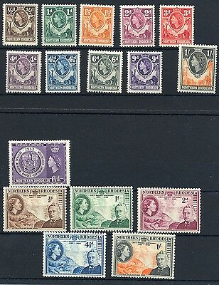 Northern Rhodesia 1953 - SG54-59 and 61-70 MH
