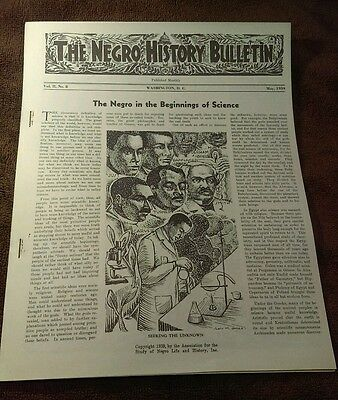 Rare May 1939 The Negro History Bulletin Vol2 No8- Negroes in Science +Articlea