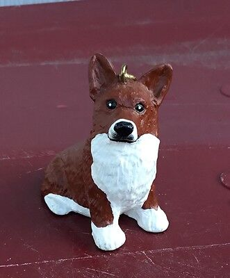 Welsh Corgi Dog Christmas Ornament by Michael Park Woodcarver