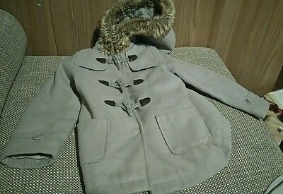 Infant Girls Le Redoute 3 Yrs Grey Hooded Duffle Coat