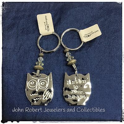 Natural Life Key Chain Token Key Chain In Silver Color