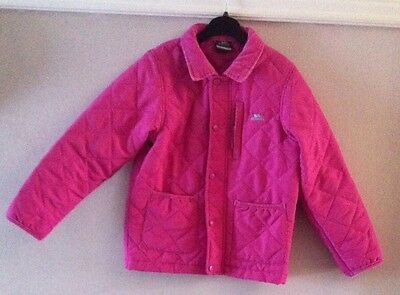 Girls Pink Quilted Trespass Jacket Age 5-6