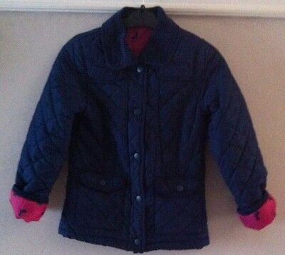 Girls Navy Quilted Jacket Age 7-8 Yers