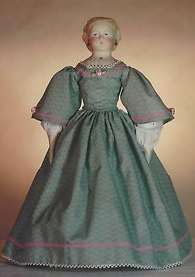"""15-16""""ANTIQUE CHINA HEAD/PARION FRENCH LADY DOLL@1850s DRESS&UNDERWEAR PATTERN"""