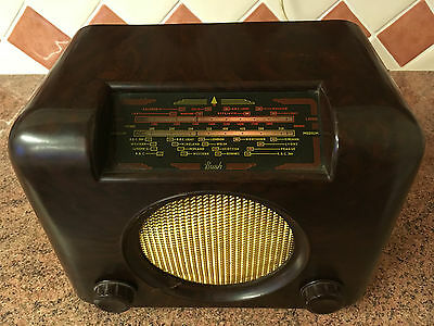 Bush DAC90A Bakelite Valve Radio,Electronic Work Done,Not Perfect Cosmetically