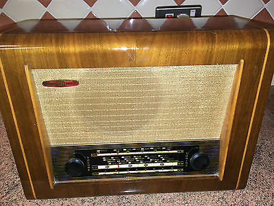 Vintage Valve Radio,Pye P75,'50s,Immaculate Set,Working V. Well,Elect. Work Done