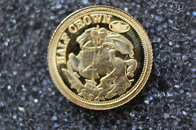 2009 Miniature 24ct Gold Half Crown Coin George and the Dragon