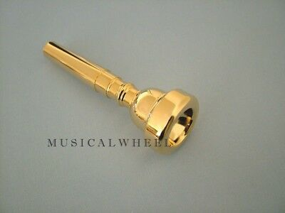 TRUMPET MOUTHPIECE Sizes # 1 1/2C  3C  5C  7C  - SILVER or GOLD Plated -  New