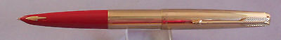 Parker 61 Gold Fountain Pen--Red Shell-medium point