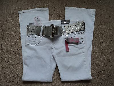 Ladies white bootcut stretch trouser by Bay size 14