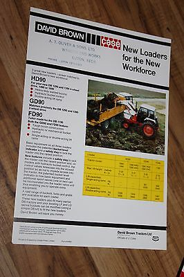 Case David Brown HD90 GD90 FD90 front loader 1490 tractor brochure
