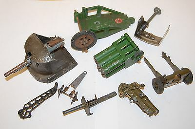 Job Lot Of Vintage Britains And Astra Lead Soldiers Gun Cannons