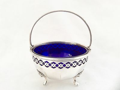 Beautiful Antique Silver Plated Sugar Bowl By Long Of Cardiff C.1900