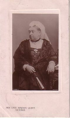 U.K. - 1909 The Late Majesty Queen Victoria used real photo postcard