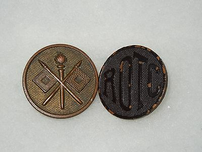 WWI US Army Signal Corps & ROTC Collar Disc Pin Lot Screw Back