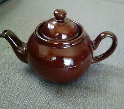 Ceracraft Royal Cauldon Teapot, Brown Betty Red Ware  with Lid England