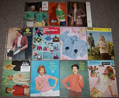 11x VINTAGE KNITTING PATTERNS ~ LADIES & CHILDREN'S CLOTHES & MORE