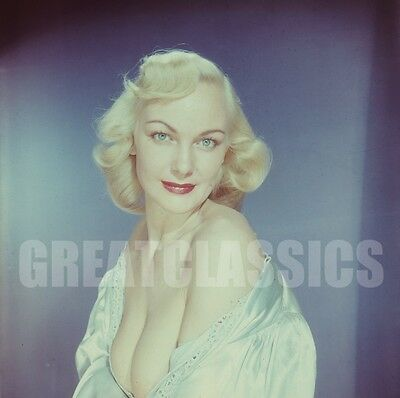 Betty Tunnell 1952 Voluptuous Pinup 2 1/4 Color Camera Transparency Peter Basch
