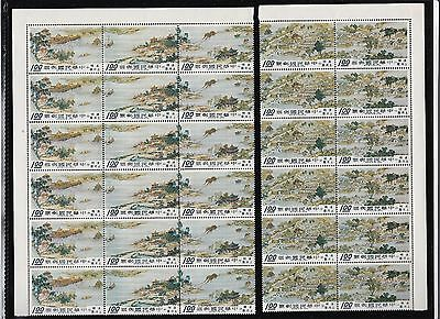 1968,Taiwan, Famous Ancient Chinese Painting  Sc# 1556-1560 block of 6