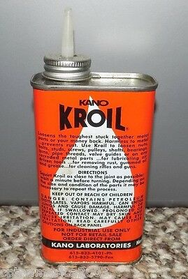 Vintage KANO KROIL 8 ounce Oil Can - Kano Laboratories !
