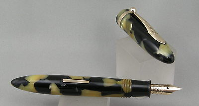 Sheaffer Balance Petite Pearl & Black w/Gold Trim Fountain Pen - 1930's - USA