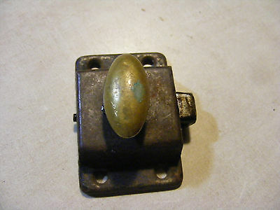 VTG Old Antique Small SHABBY Metal HOOSIER Cabinet Cupboard Turn Knob Latch /