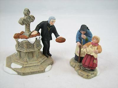 DEPARTMENT 56 Dickens' Village Series The Charitable Vicar Set of 2 RETIRED MINT