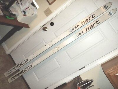 Vintage Hart Competition White race Skis 1970s