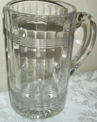 Vintage Rochester Root Beer Etched Mug Tankard Heavy Glass Nice!