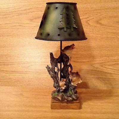 3 Wolf/wolves Tea Light Lamp
