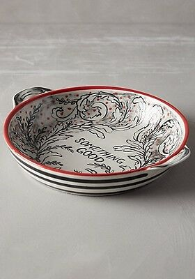 NWT Anthropologie MOLLY HATCH Crowned Leaf Pie Plate Dish SOMETHING GOOD