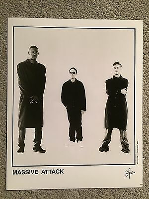 "MASSIVE ATTACK promo only B&W 8"" x 10"" publicity photo RARE OOP Virgin 1994"