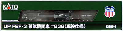 Kato 12605-4 UP FEF-3 Steam Locomotive #838 (Active Model) (N scale)