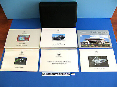 2001 Mercedes W220 S S430 S500 S55 S600 Owners Manuals Navigation Books Set H170