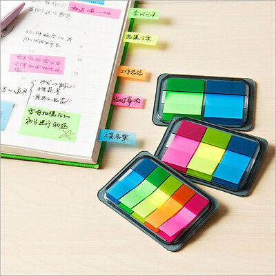 Small Sticky Post Notes Paper Colorful Diary Notebook Memo Pad Tab Note Office
