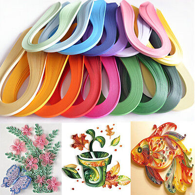 Quilling Paper DIY 3mm Width Solid Color 120 Stripes Origami Paper Hand Craft