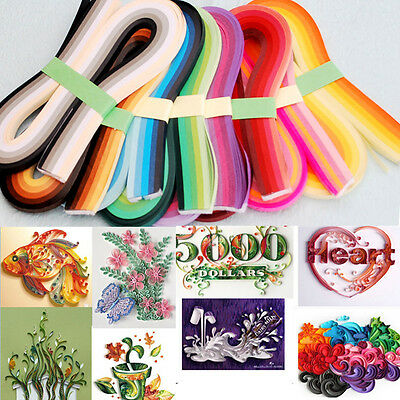 Origami Paper 120 Stripes 3mm Quilling Paper DIY Width Solid Color Hand Craft
