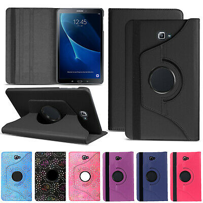 """Leather 360 Stand Flip Case Cover For Samsung Galaxy Tab A6 10.1"""" T580 T585"""