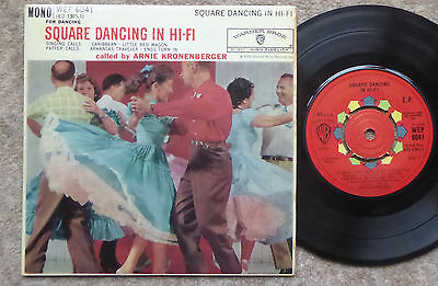 Arnie Kronenberger Square Dancing In Hi-Fi Ep 1962 Excellent Condition