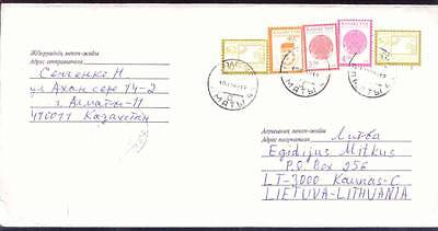 KAZAKHSTAN COVER ABROAD to LITHUANIA 1999 INFLATION