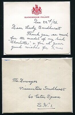 King George 5Th Autograph Letter 1926 Buckingham Palace