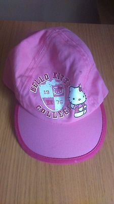 Girls Pink M & Co Hello Kitty Sun Cap - Size (M) 5 - 7 years