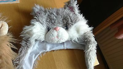 Childrens 3D Furry Fun Animal Cat Hat - Size 56 cms