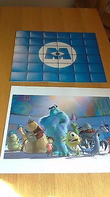 Exclusive Disney Store Monsters Inc 2002 Lithograph Collection & Folder