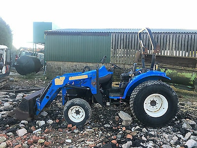 new holland  tc45d loader tractor compact tractor 4 wheel drive