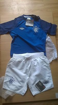 6 X Rangers Shirts & Shorts Size Mb 146Cm Bnwt (Ideal For 5 Aside Team)