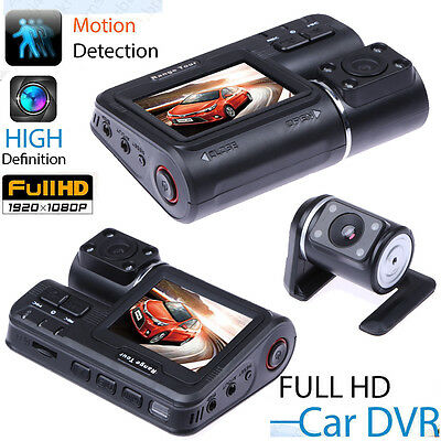 1080P Full HD Dual Lens Car Camera DVR Vehicle Video Recorder G Sensor Dash Cam