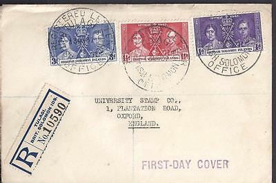 Solomon Ilds, Kgv1 1937 Coronation Cover Reg, To Uk. Via Sydney